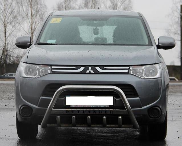 Защита переднего бампера (кенгурятник) Mitsubishi Outlander 2012+