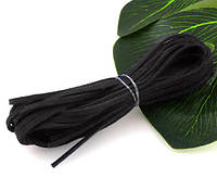 (1 метр) Замшевый шнур искусств.,ширина 3мм  (отрезками по 1 метру!) Цвет - Черный, фото 1