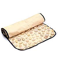 Натуральная галька - Ортопедический массажный коврик для профилактики и лечения плоскостопия 60*40  см