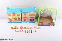 Кукольный дом  с куклами и мебелью батар.муз.свет.сумка 20*15*18,5 /36/