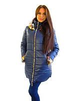 Тёплая женская куртка с капюшоном на зиму #I/Z