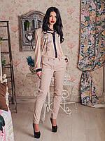 Классические женские брюки бежевого цвета #I/Z