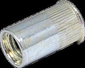 Гайка клепальна рифлена з потайною голівкою М3/ 0,5-2,0мм, D5, цб