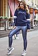 Женская стильная толстовка 1229.3751 синий, фото 2