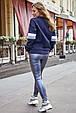 Женская стильная толстовка 1229.3751 синий, фото 3