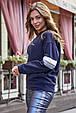 Женская стильная толстовка 1229.3751 синий, фото 4