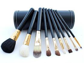 Набор кистей для макияжа в тубусе 9 шт MAC