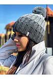Шапка жіноча FREEVER білий, сірий, бірюза, фото 2