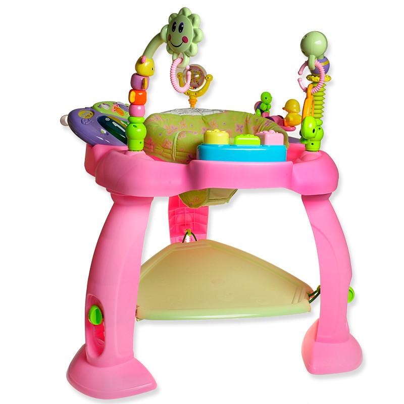 Игровой развивающий центр Музыкальный стульчик Hola Toys (696-Pink)