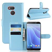 Чехол Luxury для HTC Desire 12s книжка голубой