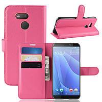 Чехол Luxury для HTC Desire 12s книжка розовый