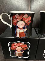 Чашка фарфоровая Украиночка 280 мл от Гапчинской 924-440