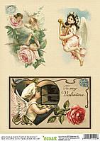 Декупажная карта 22 Святой Валентин 60 г/м2, А4, 210Х290 мм