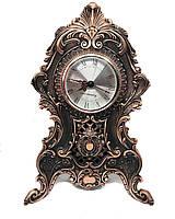 Настольные каминные часы MCA Vizyon из мельхиора с посеребрением под медь, фото 1