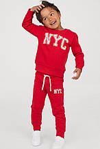 Красный спортивный костюм для мальчика H&M Швеция Размер 122-128
