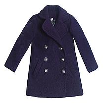 Пальто барашек р 122-134 (фиолетовый) для девочки