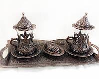 Набор из 2 шт Турецкие армуды  M Vizyon из мельхиора медные, фото 1