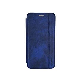 Чехол книжка для Xiaomi Mi CC9 боковой с отсеком для визиток Gelius, Натуральная кожа, синий