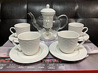Фарфоровый чайный набор на 6 персон с чайником Lefard 359-316