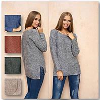 Женский однотонный свитер, фото 1