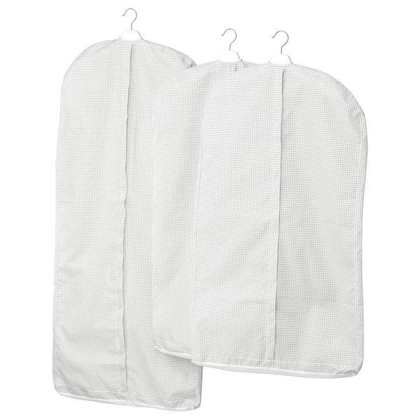 IKEA STUK Чехол для одежды, 3 шт. Белый / серый 503.708.76