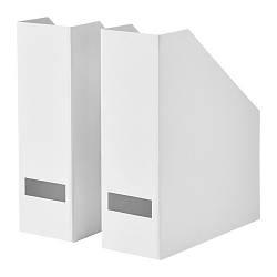 Подставка для журналов IKEA TJENA белый 103.954.16