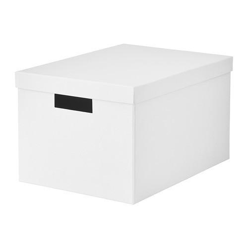 Контейнер с крышкой IKEA TJENA 25x35x20 см белый 603.954.28