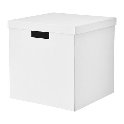 Контейнер с крышкой IKEA TJENA 30x30x30 см белый 503.954.19