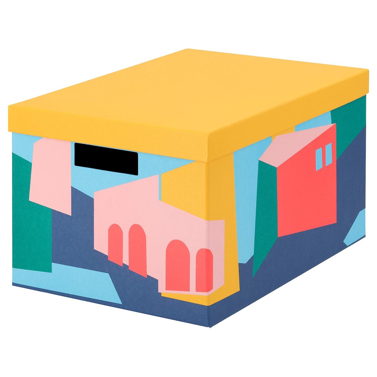 Коробка с крышкой IKEA TJENA 25x35x20 см желтый 304.341.34