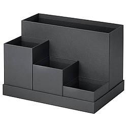 Подставка для канцелярских принадлежностей IKEA TJENA 18x17 см черная 803.954.89