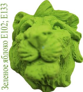 Зеленое яблоко пищевой краситель смесевой Е102 и Е133 зелёный купить