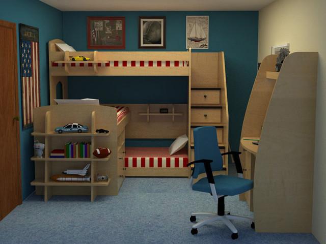 Детская двухъярусная кровать чердак ДМ 159