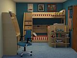 Детская двухъярусная кровать чердак ДМ 159, фото 2