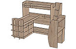 Детская двухъярусная кровать чердак ДМ 159, фото 3