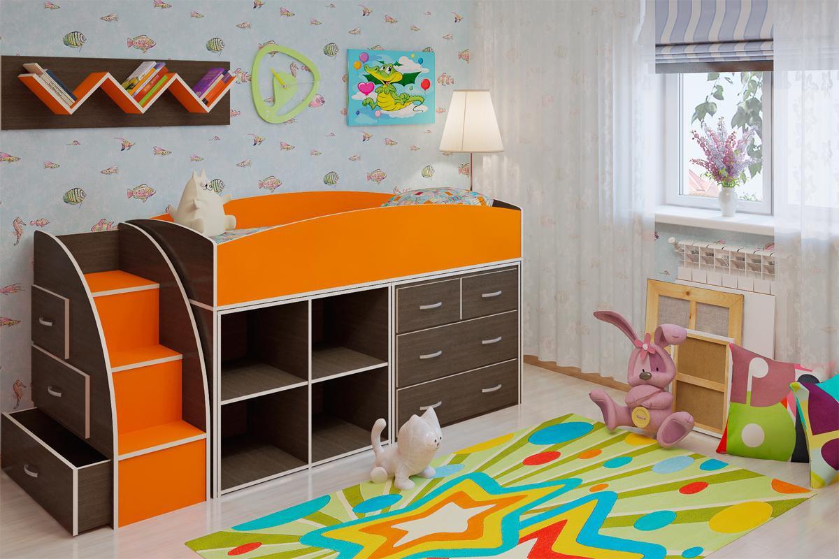 Детская двухъярусная кровать чердак ДМО 52