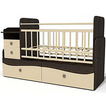 Детская кроватка для младенца ДМ-042