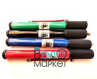 Насос велосипедный пластиковый толстый короткий, Ф30 х 300 мм., черный, зеленый, красный, синий (1 штука)