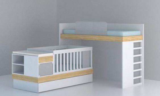 Дитяче ліжко для двох дітей: немовляти й дорослого ДМ 705