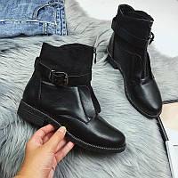 Женские ботинки осенние с ремешком, фото 1