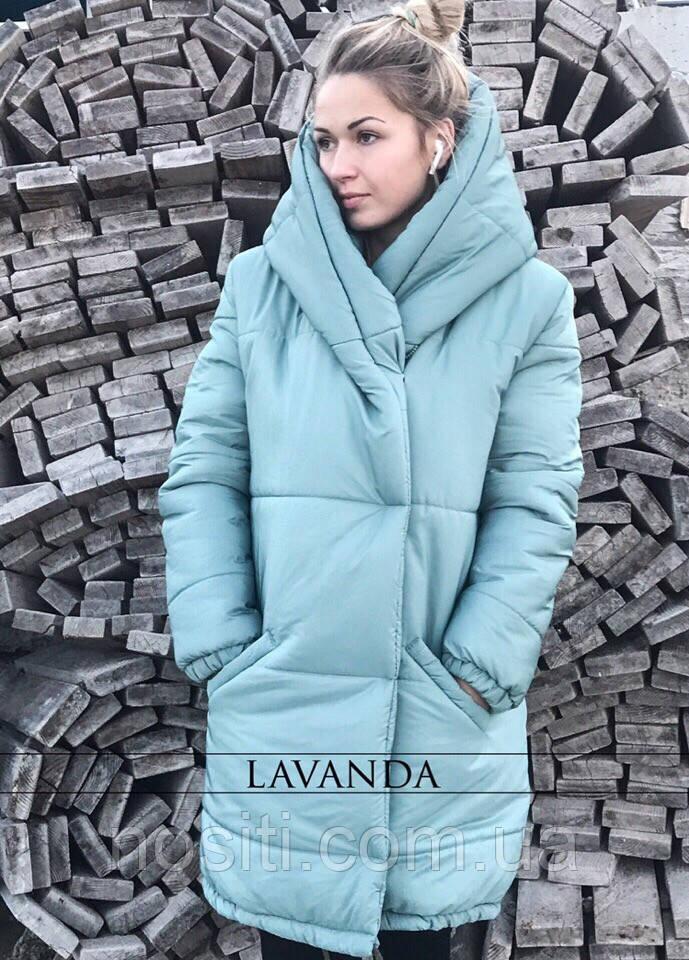 Зимняя теплая куртка на синтепоне ниже колен