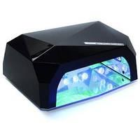 LED+CCFL Лампа для маникюра Diamond 36W Черная