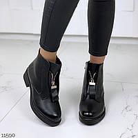 Жіночі черевики класика на хутрі, фото 1