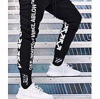 Спортивные штаны мужские трикотажные Off White 4X черные