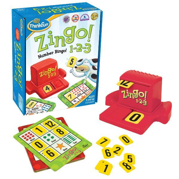 Настольная игра Зинго Бинго 1-2-3 | Zingo 1-2-3 | ThinkFun (USA)