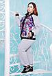 Cпортивный костюм с манжетами ЯНА (серый), фото 2