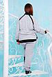 Cпортивный костюм с манжетами ЯНА (серый), фото 4