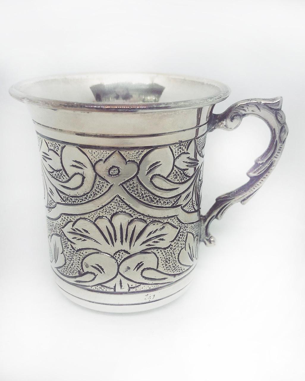 Кавова чашечка зі срібла 925 Харківський ювелірний завод з візерунком