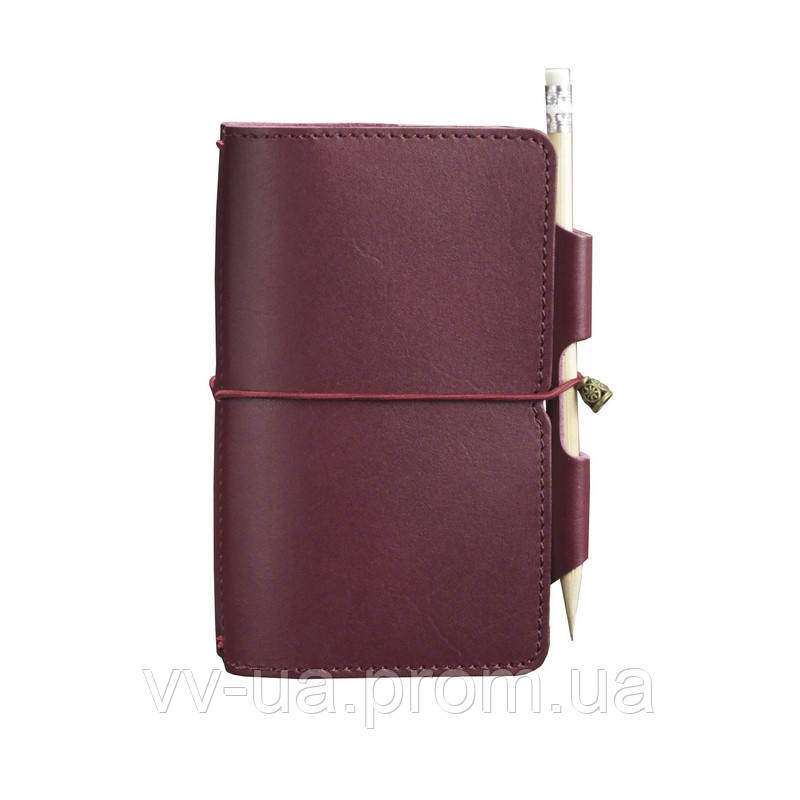 Кожаный блокнот BlankNote Софт-бук 3.0 Виноград, бордовый (BN-SB-3-mi-vin)