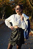 Женская юбка из эко-кожи