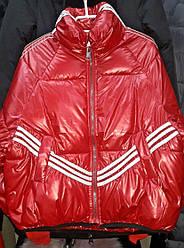 Ультрастильная красная модная молодёжная куртка оверсайз кокон Zidan Hong